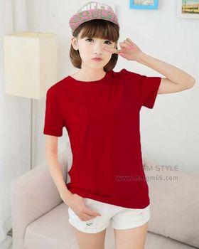 短袖纯色T恤货源批发夏季空白T恤衫货源批发网