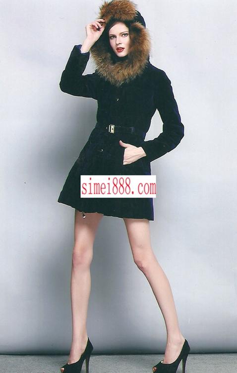 2014冬高端女装魅力秀正品羽绒服大毛领品牌斯玫折扣女装走份批发