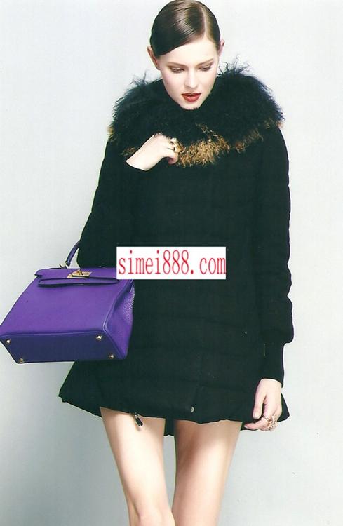斯玫服饰2014年冬装高端女装魅力秀正品大毛领羽绒