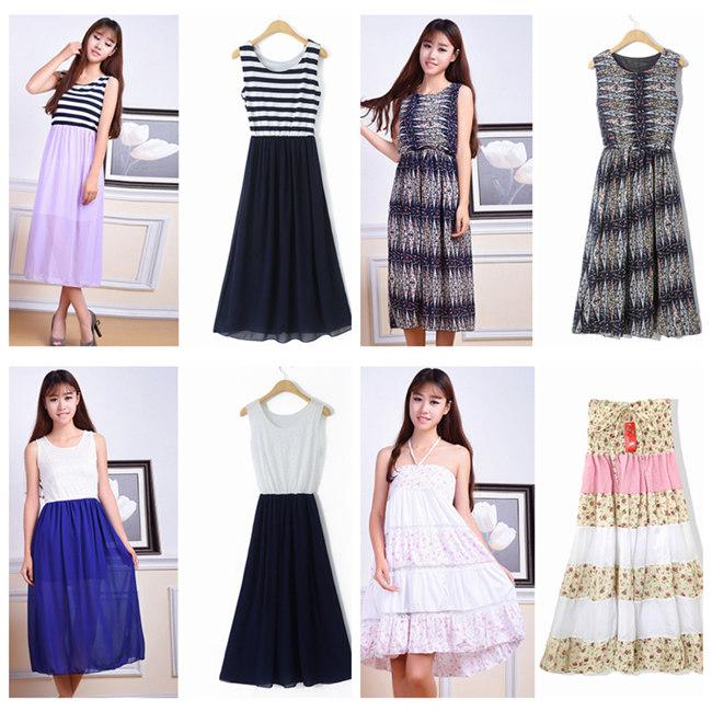 时尚女装连衣裙网店服装货源厂家直销短袖连衣裙拿货