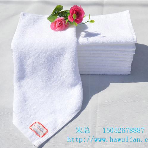 纯棉小方巾酒店宾馆专用小方巾厂家直销白方巾