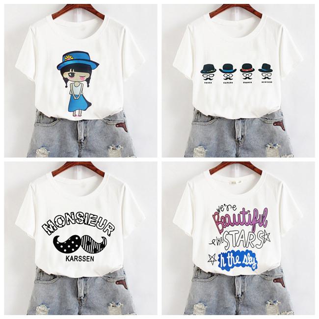 夏季女装新款批发市场女士短袖T恤批发女式韩版短袖