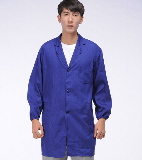 2015优质大褂定制 蓝大褂批发 涤棉黑大褂生产 成都服装厂