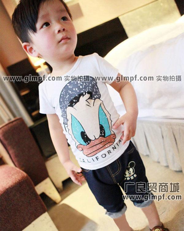 儿童夏季上衣货源童装批发市场