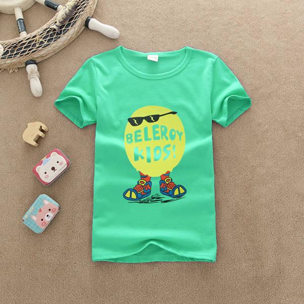 时尚夏季童装T恤批发纯棉童装短袖印花T恤批发