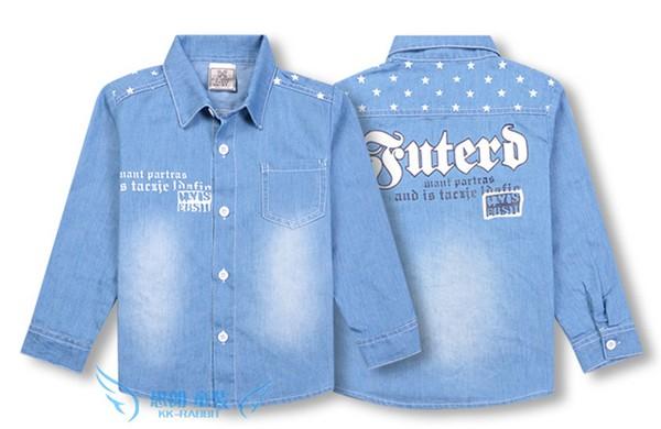 男童牛仔新款儿童衬衫_在佛山怎么买优秀的儿童长袖衬衫