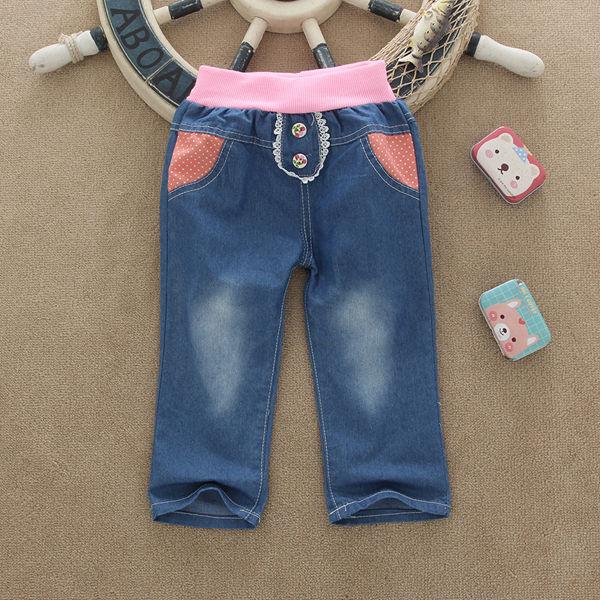 厂家直销童装牛仔批发网上牛仔童裤批发广东新款童装牛仔裤