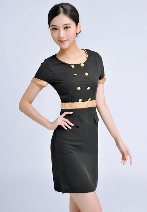 庞哲美容服定制 美容服裙装 定做美容服价格 成都服装厂