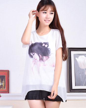 夏季时尚新款女装批发夏季韩版女装长袖T恤批发市场夏夏季女装批发