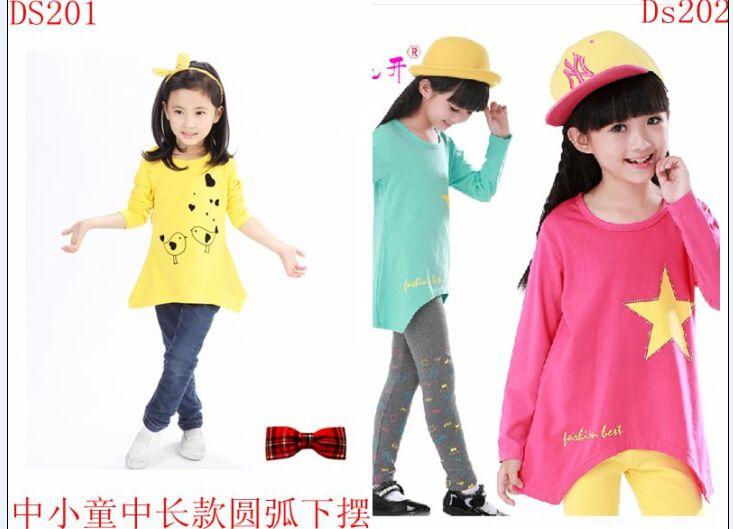 时尚点的最便宜的儿童服装批发T恤长袖批发