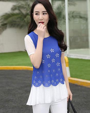 韩版女装批发虎门厂家低价直销雪纺蕾丝衫裙批发十几元便宜进货