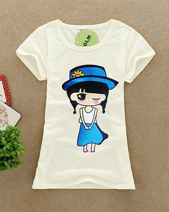 夏季女装批发厂家直销新款韩版女装便宜批发短袖几元印花休闲T恤