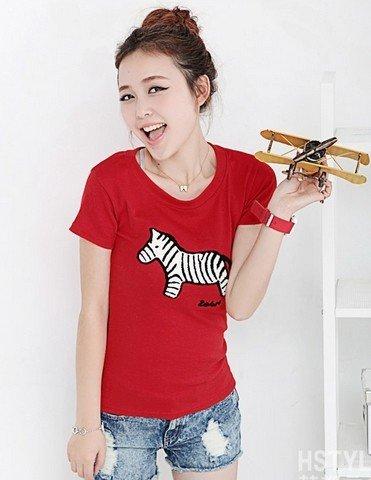 工厂处理潮流短袖T恤女装时尚韩版T恤批发