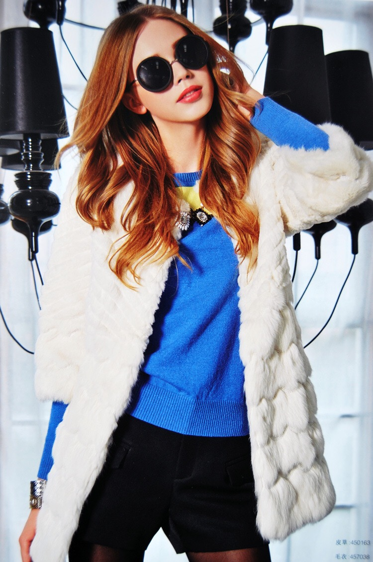 2015韩版新款中长款风衣外套女 纯色修身系带单排扣大衣