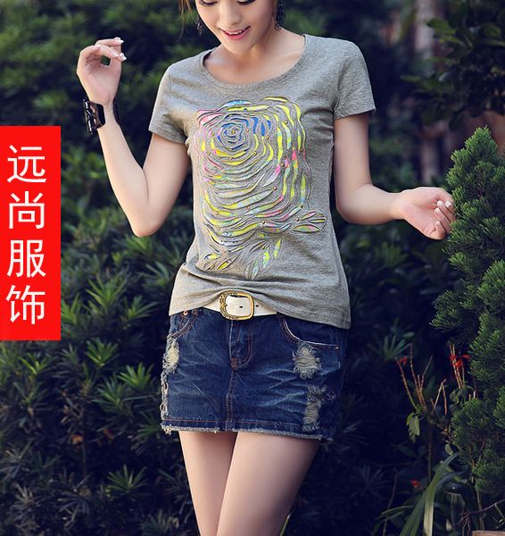 广西七月圆领T恤批发哪里最好卖货到付款的牛仔裤批发