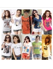 厂家直销批发个性韩版时尚女装批发100000件女式T恤5.8元起