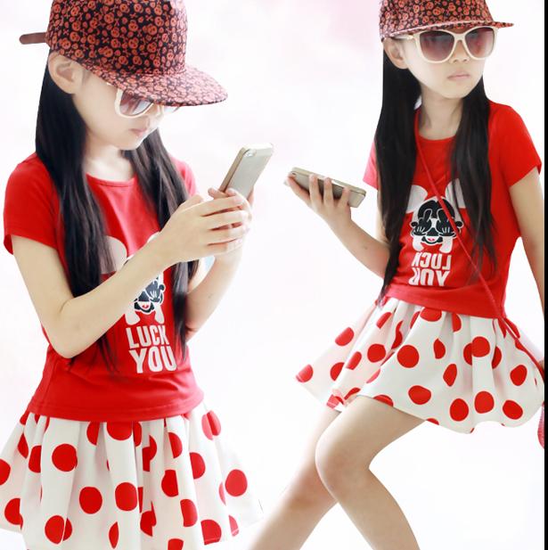 广州沙河童装服装批发市场厂家批发童夏装短T恤连衣裙 短裤批发