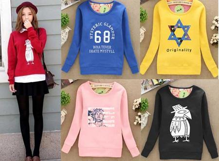 便宜的秋冬韩版女装厂家直销几元韩版女装T恤衫便宜低价批发