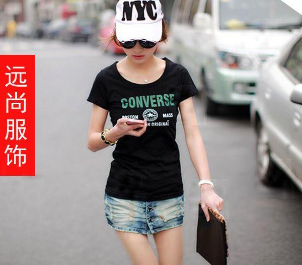 虎门大量处理几元钱的女士T恤批发最便宜的短袖批发