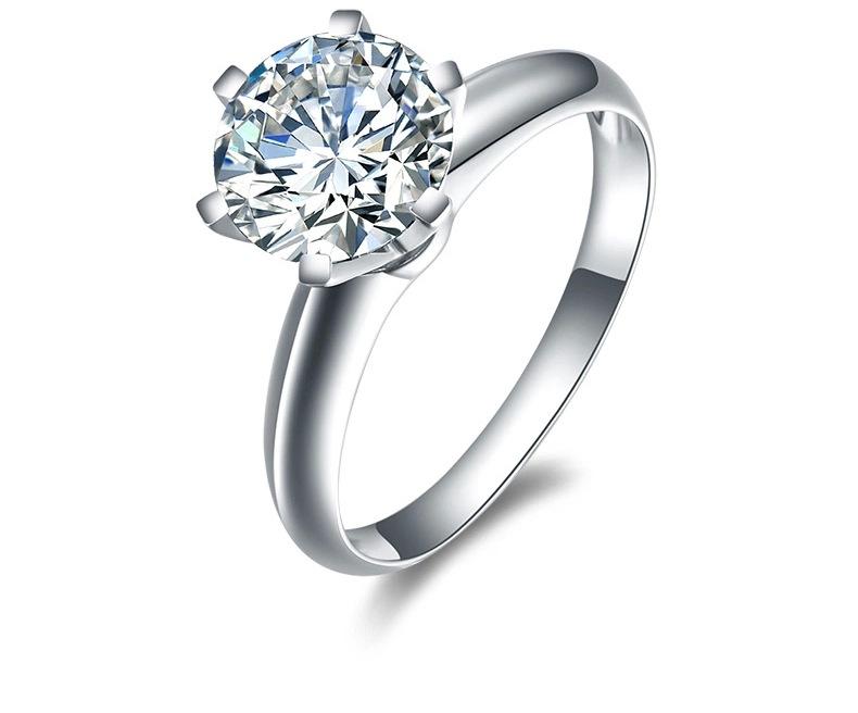 南非钻石戒指 钻戒女款 30分50分/1克拉 2克拉 经典六爪婚戒