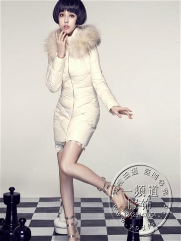 欧美大牌秋冬新品女装毛呢外套 中长款双排扣修身呢大衣羽绒