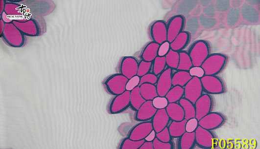 柯桥梭织花朵女装面料F05589