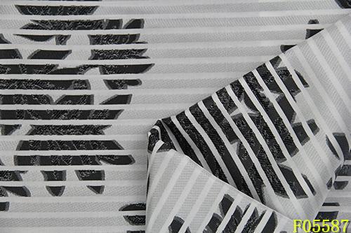 北京色织韩版女装条纹面料F05587