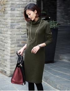 批发供应韩版时尚女装秋季连衣裙工厂一手货源