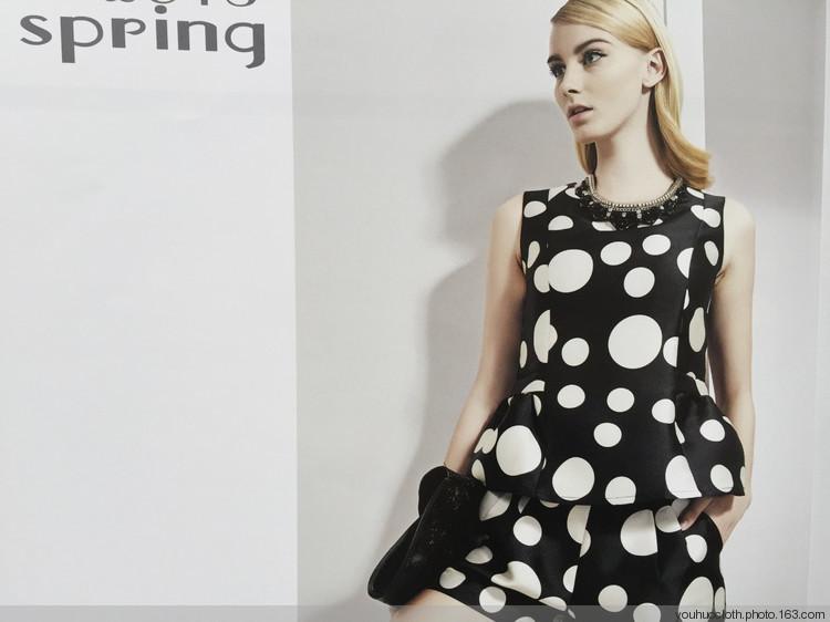 15年新款拉素春装简约修身连衣裙女装一手货源走份