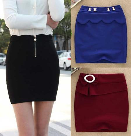 服装批发市场秋冬新款高腰包臀半身裙十几元低价批发厂家供货