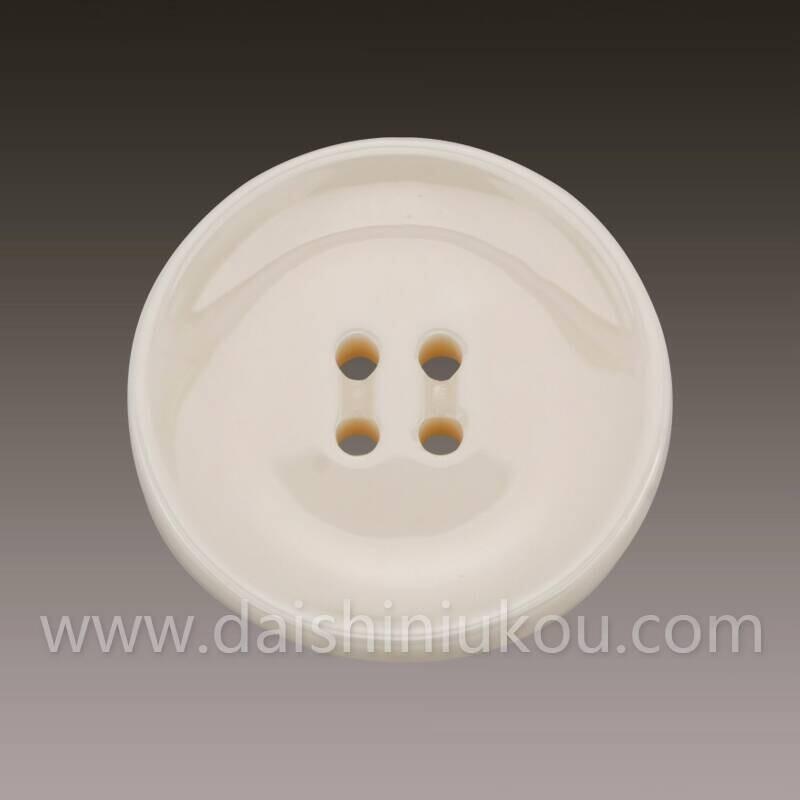 米黄陶瓷纽扣WD551-24.7凹面大衣纽扣手工制作