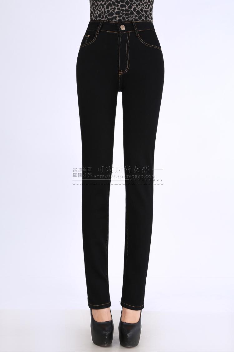 2015春秋韩版黑色高腰牛仔裤女长裤修身显瘦铅笔裤女小脚裤子