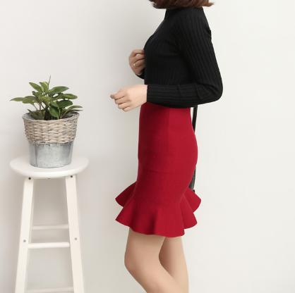 时尚秋冬女士弹力显瘦包臀裙半身裙便宜批发