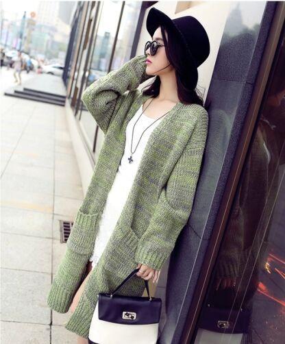 修身显瘦粗毛线针织开衫毛衣针织外套便宜批发秋装女式外套服装批发市场