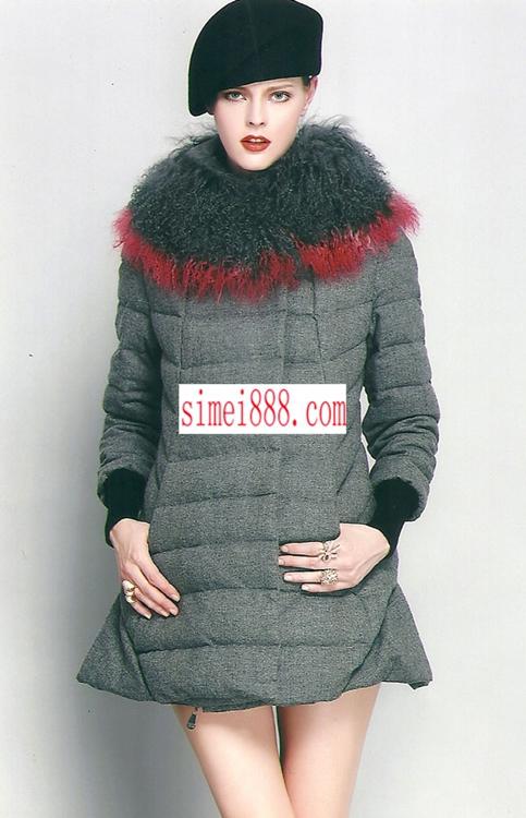 折扣女装魅力秀时尚大毛领羽绒深圳斯玫服饰大量分份中
