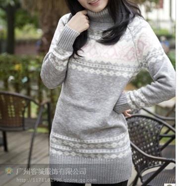 广州秋冬女装长袖打底毛衣批发韩版女装毛衣特价批发厂家直销