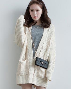 秋季韩版女装新款长款开衫一手货源长袖秋装毛衣针织外套