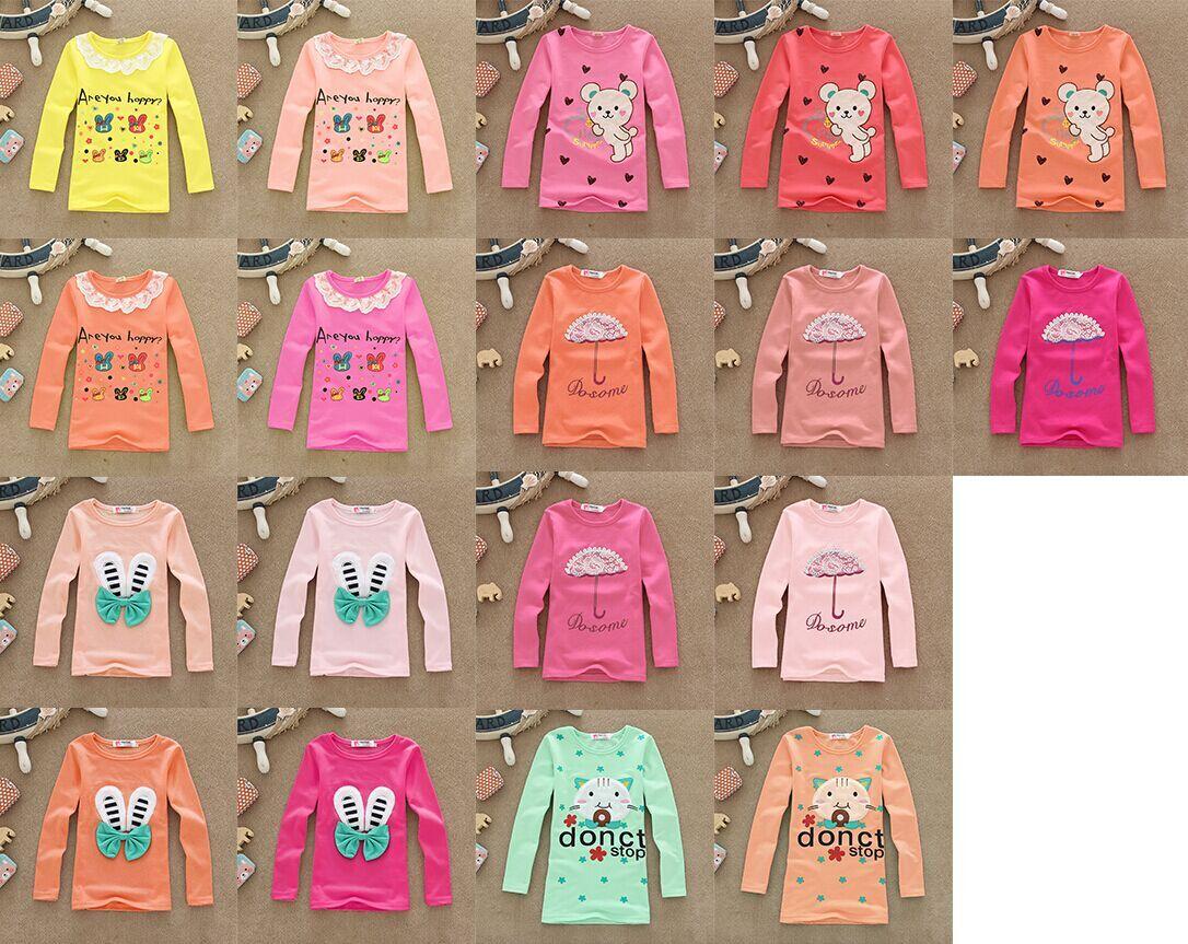 几元童T恤秋装长袖T恤韩版新款纯棉T恤便宜批发一手货源