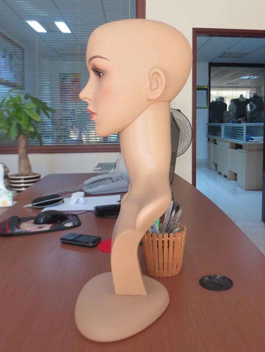 现货批发假发模特头 塑料头模