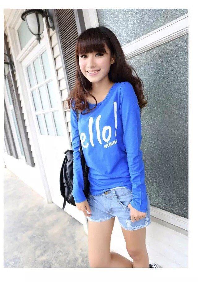 贵州三十行厂家直销时尚便宜女装秋装T恤纯棉长袖T恤批发