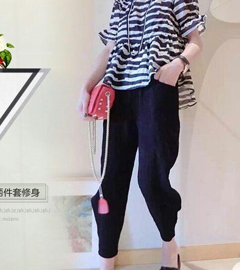 深圳曼依品牌尾货服装2015最新款欧洲站裤子低于成本清仓