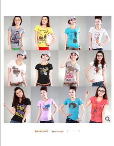 服装厂家一手货源低价批发女装短袖圆领T恤低至4.8元起