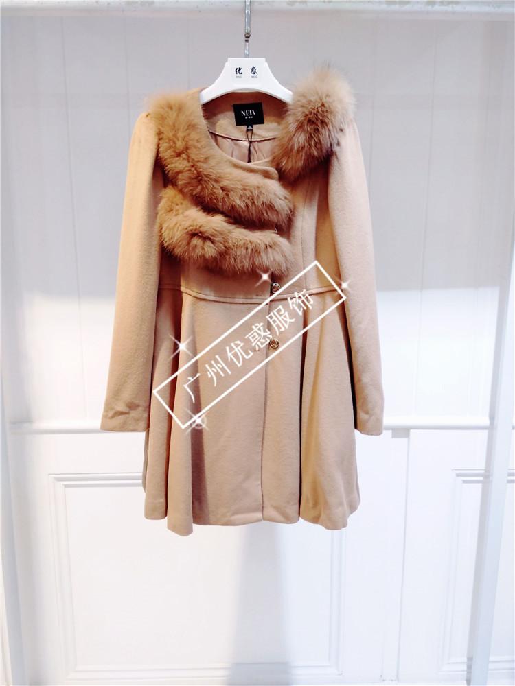 欧伊洋冬装羊绒大衣超值品牌女装一手货源尾货库存走份