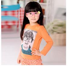 全棉儿童长袖印花T恤批发秋季小孩长袖小衫批发厂家直销童装