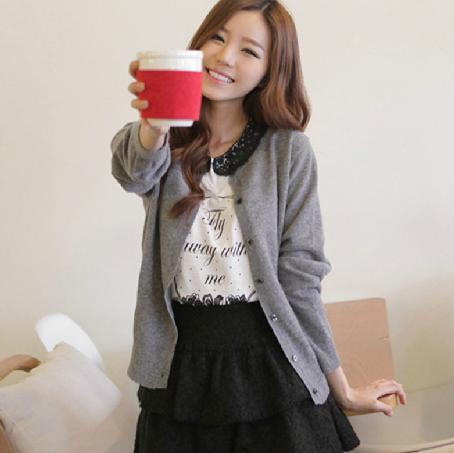 广州时尚圆领女装开衫毛衣批发 沙河湖南韩版女式薄款羊毛衫批发
