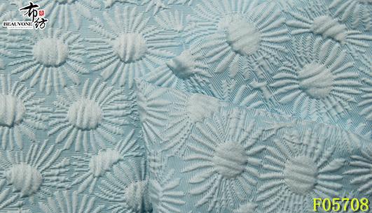 绍兴花朵面料F05708色织供应