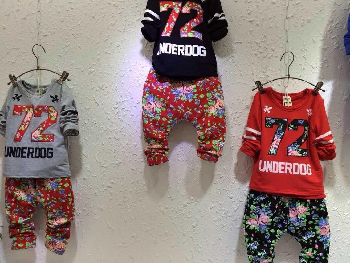 童装圆领卫衣印花刺绣儿童卫衣批发便宜童装上衣批发
