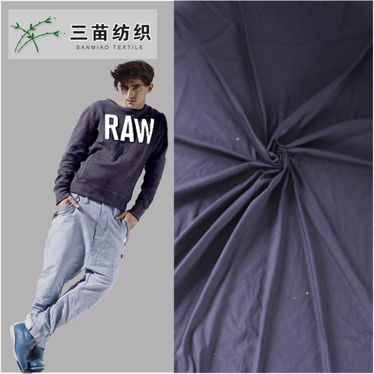厂家低价批发全棉针织面料针织靛蓝汗布