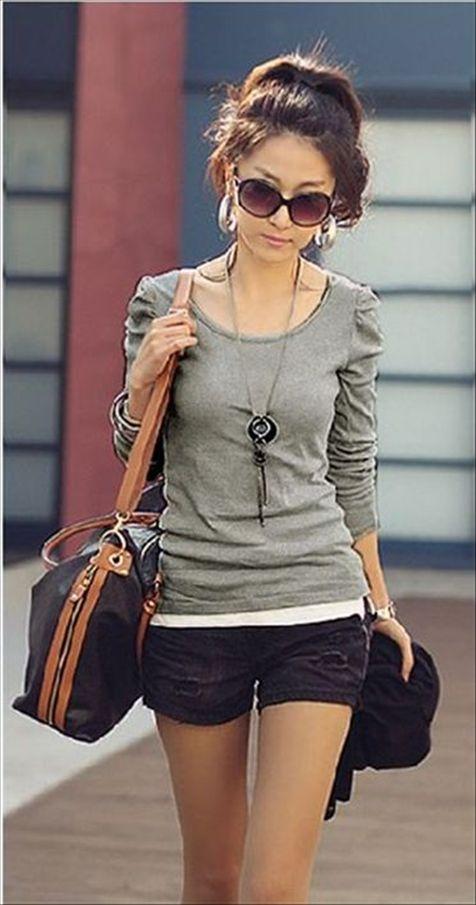 女装长袖t恤批发哪里有便宜女装批发厂家直销尾货T恤批发