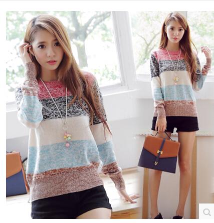 河北大码韩版女装羊毛衫便宜批发 广州沙河时尚女式毛衣针织衫清货批发
